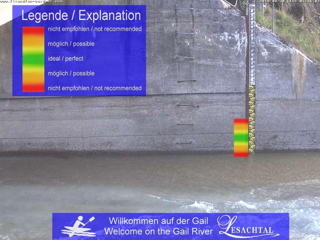 Live-Blick auf den Wasserstand (Mooserbrücke in Maria Luggau)